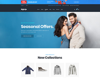 BigEnja-eCommerce Weblayout