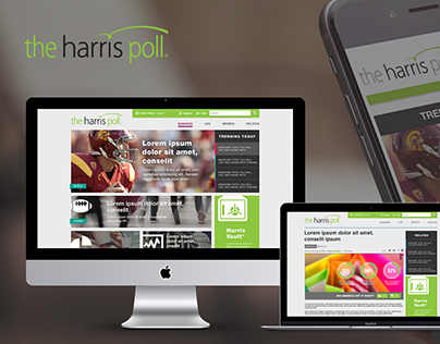 Responsive Website Design for The Harris Poll