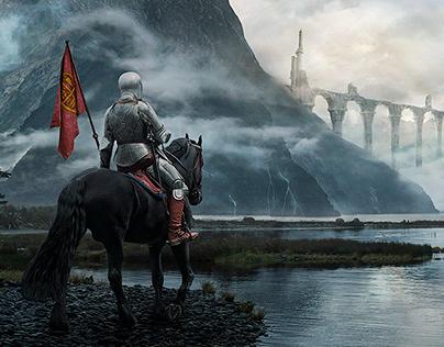 Knight Castle - Matte Painting