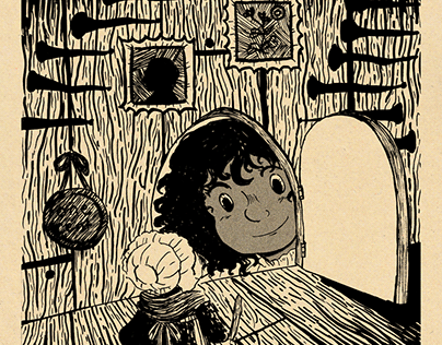 pen and ink storybook illustrations