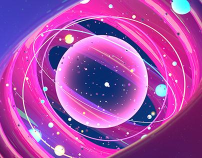 future universe 3d render