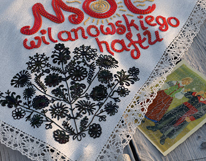 Traditional embroidery from Wilanów