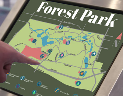 Map of Forest Park