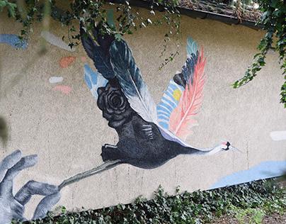 Mural for Metropolink Art Festival