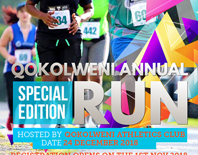 A POSTER DESIGN FOR QOKOLWENI ATHLETICS CLUB