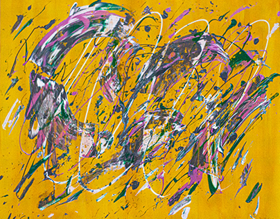 CONTROVERSIE ABSTRACT PAINT BY ALLEN PEDICONE