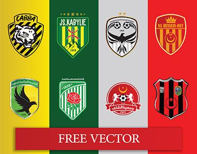 Algerian Teams logos (FREE VECTOR)