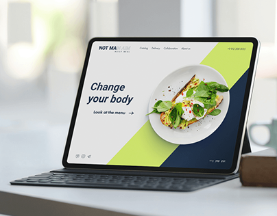 First screen concept of the food delivery service