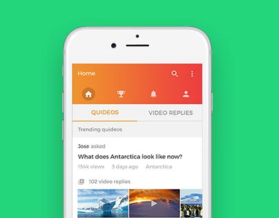 Quideo mobile app design