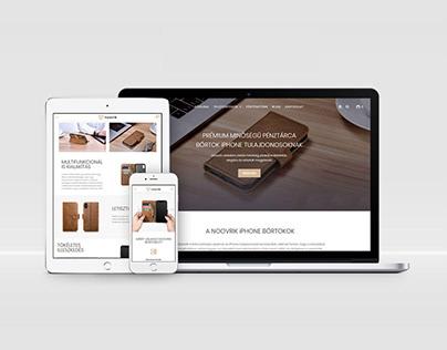 E-commerce Website Concept and Design for Noovrik Brand