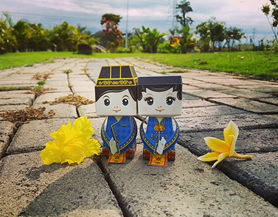Indonesian Couple Papertoys