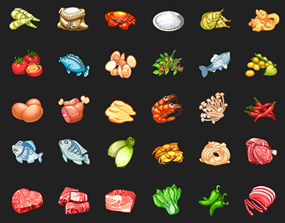 Food Game Icon Design