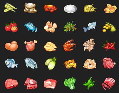 Food Game Icon Design