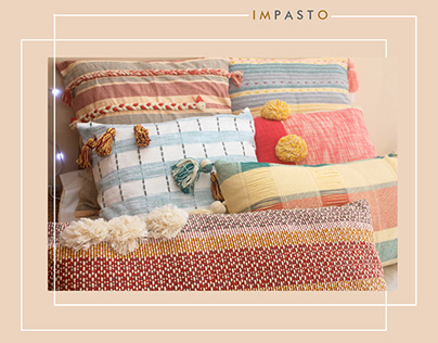Impasto- A textured tale. Anthropologie cushions