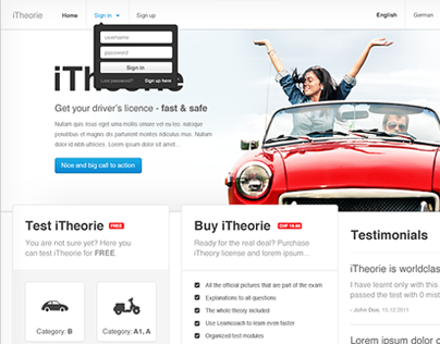iTheorie redesign & making of
