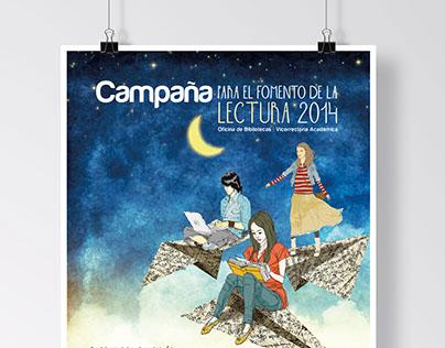 Poster campaña para el fomento de la lectura