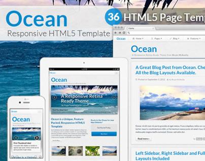 Ocean - Responsive, Retina Ready HTML5 Template