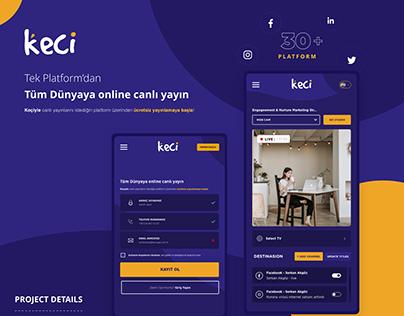 Keçi Live Stream Startup Projects