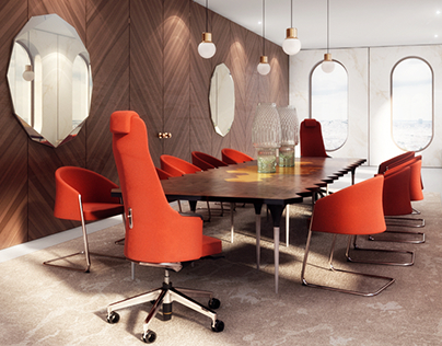 3d visualization / interior design-office