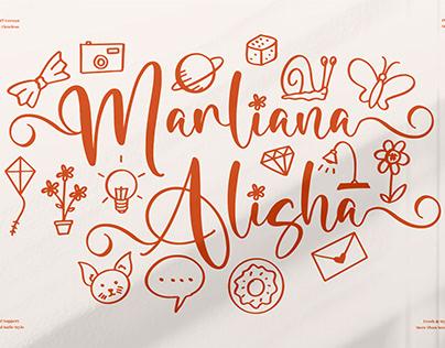 Marliana Alisha - Beautiful Ornament Font