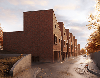 3D exterior visualization of private apartments- UK