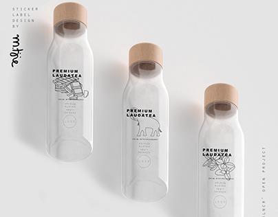 Sticker label design