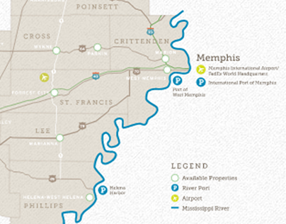 East Arkansas Crossroads Coalition interactive map