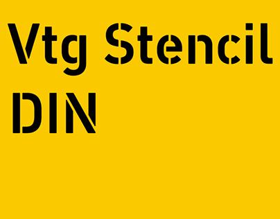 Font: Vtg Stencil DIN - fonts