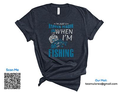 Fishing T-Shirt Design Bundle Free 1