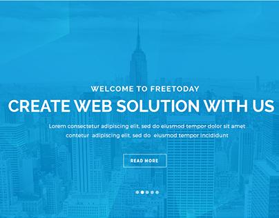 Freetoday - One Page Corporate Portfolio