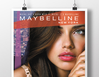 afiche maybelline new york