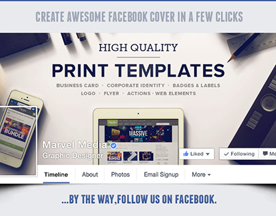 Facebook seamless integrated cover action on behance pronofoot35fo Gallery