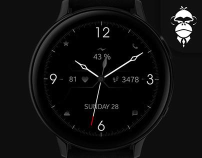 Minimal Black Watch Face