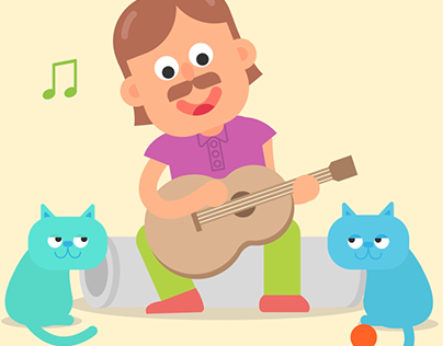 Singing with the cats