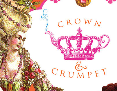 Crown & Crumpet menu, website and collateral