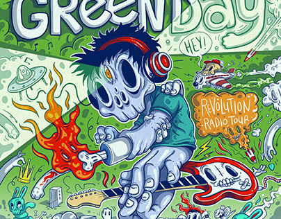 GREEN DAY - USA Tour Posters for Warner Music
