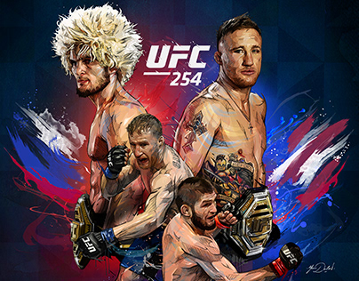 UFC-254 Official Poster