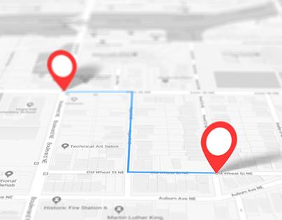 Location map animation