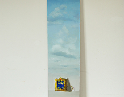 Book of Psalms oil on wood 14X51 cm
