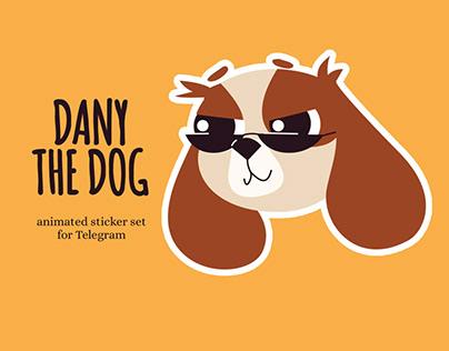 Dany the dog - animated STICKER set