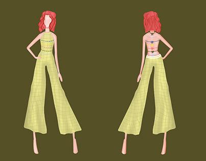 Garden Escape Jumpsuit | Hand Flat Knitted Garment
