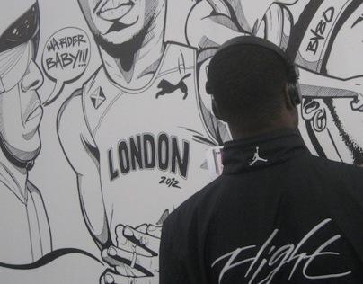 Wall Illustration (London2012)