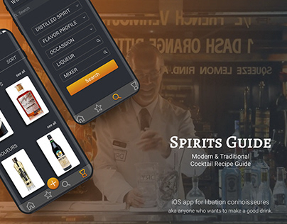Spirits Guide - a cocktail recipe guide