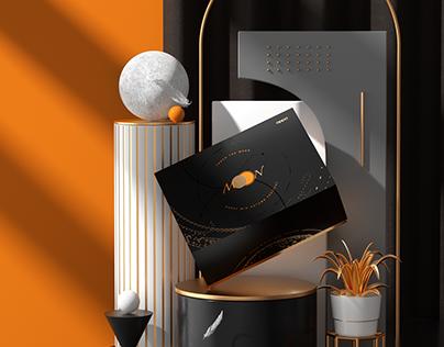 OPPO Mooncake Packaging Design 2020中秋月饼礼盒包装设计