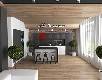 Interior design of the house for a young family