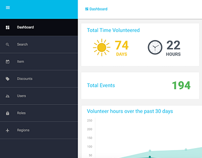 Event and Volunteer Dashboard