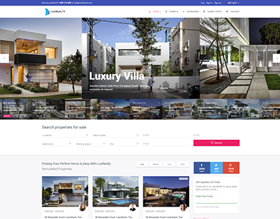 LuxRealty - Real Estate Theme & Template
