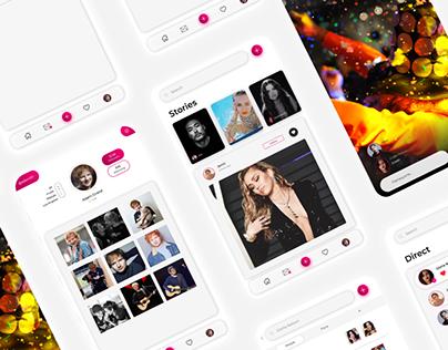 Дизайн приложения Instagram. Redesign Instagram