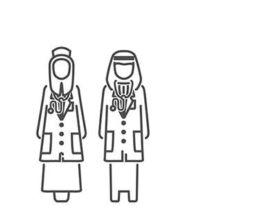 Saudi Medical Icons