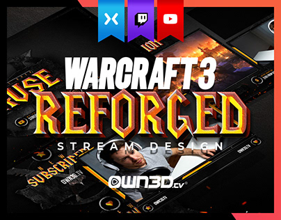 Animated Warcraft 3 Reforged Twitch Stream Design Pack